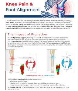 Knee pain and foot alignment
