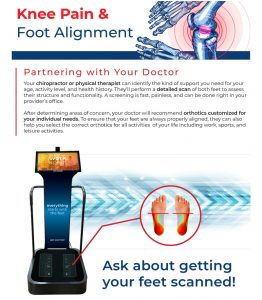 Scan your feet for knee pain